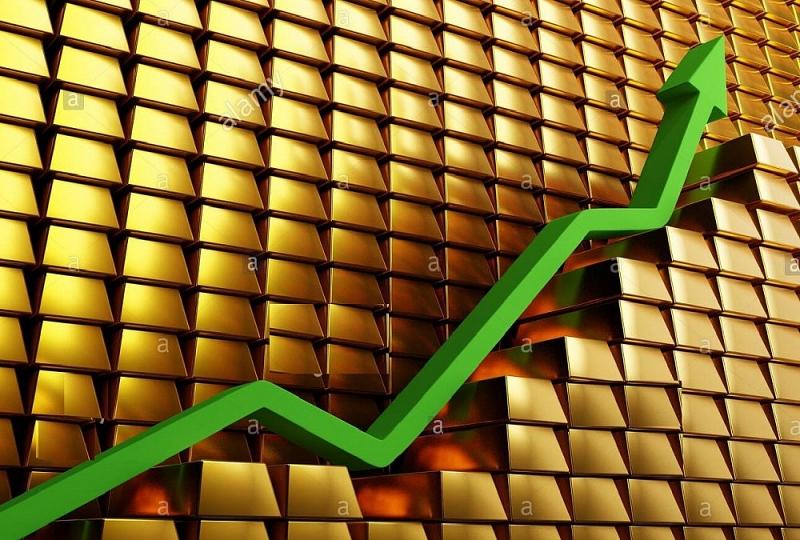 Khơi dậy làn sóng mua vào đẩy giá vàng lên 1.800 USD/ounce