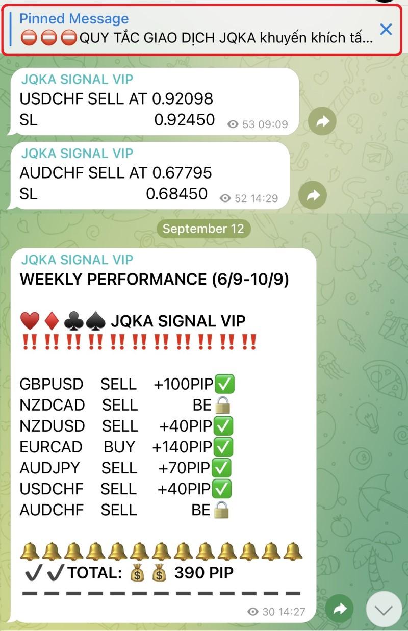 Channel tín hiệu chuyên các cặp tiền Forex